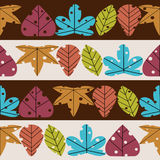 Leaves retro styled seamless pattern. Seamless pattern  retro styled with leaves Stock Photos