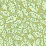Leaves. Seamless background for your design. Stylized leaves. Seamless vector background for design Stock Image