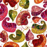 Leaves seamless pattern. Royalty Free Stock Image
