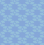 Leaves seamless pattern on blue background Stock Photo