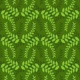 Leaves seamless pattern. Green leaf ornament. Nature background.  royalty free illustration