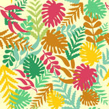 Leaves Seamless Pattern - Illustration Stock Photography