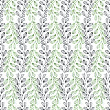 Leaves seamless pattern. Nature vector background. Can be used for wrapping, textile, wallpaper and package design Royalty Free Stock Image