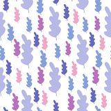 Leaves seamless pattern in pastel colors. Leaf branch backdrop. Vector forest illustration on white background. Fall season wallpaper. Simple flat style for royalty free illustration