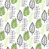 Leaves seamless pattern. Seasonal background. Can be used for wrapping, textile, wallpaper and package design Stock Photos