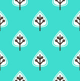 Leaves seamless pattern vector ( blue ) Royalty Free Stock Photo
