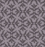 Leaves seamless retro pattern on brown background Royalty Free Stock Image