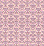 Leaves seamless retro pattern on pink background Royalty Free Stock Photos
