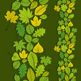 Leaves seamless wallpaper background, vector natural endless pat Royalty Free Stock Photography