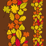Leaves seamless wallpaper background, vector Royalty Free Stock Image