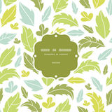 Leaves silhouettes frame seamless pattern Stock Images
