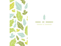 Leaves silhouettes horizontal seamless pattern Royalty Free Stock Photography