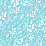 Leaves Silhouettes In the Wind Seamless Pattern Stock Photos