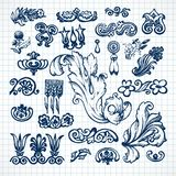 Leaves sketch set Royalty Free Stock Photos