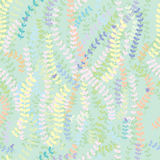 Leaves small bird decor seamless pattern Royalty Free Stock Images