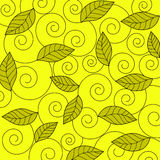 Leaves and spirals - Vector Stock Photo