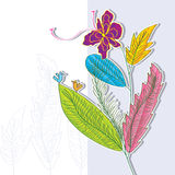 Leaves Style Bunch. Illustration of design four seasons leaves with bunch and birds style. --- This .eps file info Version: Illustrator 8 EPS Document: 10 * 10 royalty free illustration
