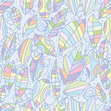 Leaves style pastel color seamless pattern Stock Image