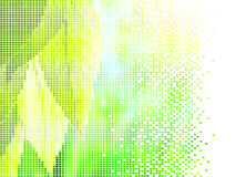 Leaves and sun. Pixelated green vitality leaves and bright sun Royalty Free Stock Image