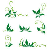 Leaves and swirls for decor Royalty Free Stock Photography