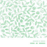 Leaves and swirls textile horizontal frame Royalty Free Stock Photos