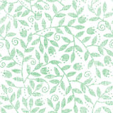 Leaves and swirls textile seamless pattern Stock Photos