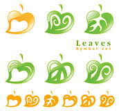 Leaves symbol set. Royalty Free Stock Image