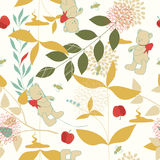 Leaves and Teddy Bears Royalty Free Stock Image