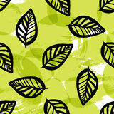 Leaves texture, green natural seamless pattern Royalty Free Stock Photography