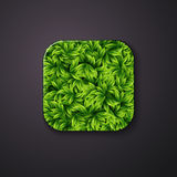 Leaves texture icon stylized like mobile app. Vector illustratio Royalty Free Stock Photo