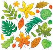 Leaves theme collection 1 Royalty Free Stock Photography