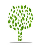 leaves at tree shape concept environment Royalty Free Stock Image