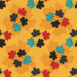 Leaves of trees colored seamless pattern Royalty Free Stock Photos