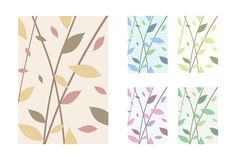 Leaves - Vector Backgrounds Set Stock Photo