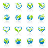 Leaves. Vector logo template set.
