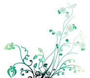 Leaves and vines pattern Royalty Free Stock Photography