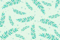 Leaves in the water. royalty free illustration