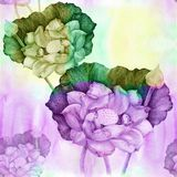 Leaves. Watercolor background image - a decorative composition. royalty free stock images