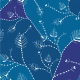 Leaves whimsical seamless pattern Stock Photo