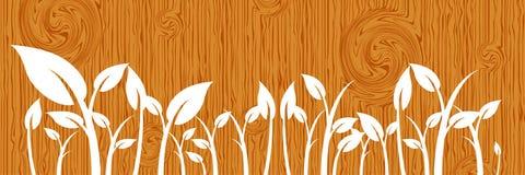 Leaves on wood Stock Image