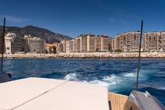 Leaving Cap d'Ail for Monaco Stock Image
