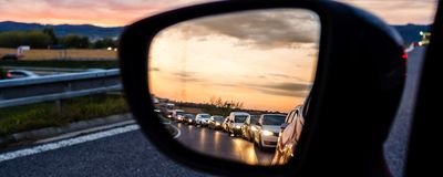 Leaving the city during rush hour Royalty Free Stock Photography