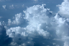 Leaving The Clouds Behind. On top of the clouds over Toronto Royalty Free Stock Photography