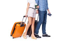 Leaving couple of tourist Royalty Free Stock Images