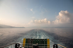 Leaving Elba. Leaving the island Elba Island by boat Royalty Free Stock Photos