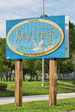 Leaving The Florida Keys Sign Royalty Free Stock Photography
