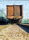 Leaving freight train Stock Photo