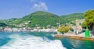 Leaving island of Ischia,Italy Stock Photography