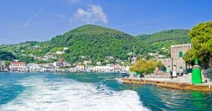 Leaving island of Ischia,Italy Stock Photography