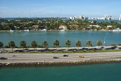 Leaving Miami, Florida Royalty Free Stock Photography